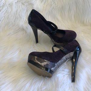 JESSICA SIMPSON   Purple Snakeskin Heels